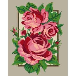 Rosen im Rahmen - Gobelin