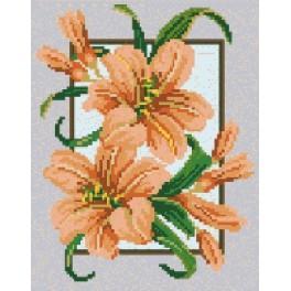 Lilien im Rahmen - Gobelin