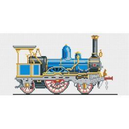 Blaue Lokomotive - Gobelin