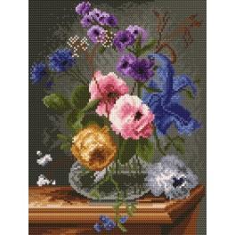 Die Blumen in dem Fläschchen - Gobelin