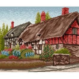 Ein Haus mit Garten - Gobelin