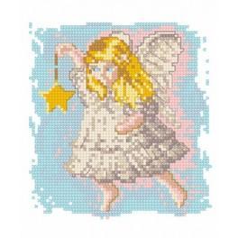 Ein Engel mit Sternchen - Gobelin