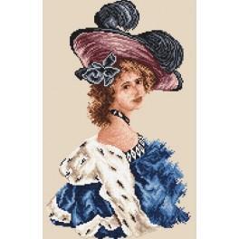 Frau in einer blauen Tunika - Gobelin