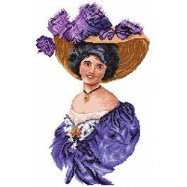 Frau in einer violetten Tunika - Gobelin