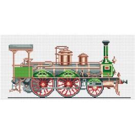 Grüne Lokomotive - Gobelin