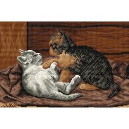Spielende Kätzchen - Gobelin