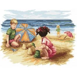 Kinder am Strand - Gobelin