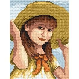 4517 Das Mädchen mit der Schleife - B. Sikora-Malyjurek - Gobelin