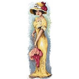 4543 Die Frau mit dem Schirm - Gobelin