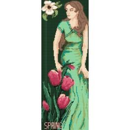 4547 Die Frau - Frühling - B. Sikora-Malyjurek - Gobelin