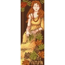 Die Frau - Der Herbst - B. Sikora-Malyjurek - Gobelin