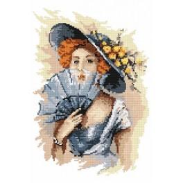 4550 Porträt der Dame - B. Sikora-Malyjurek - Gobelin