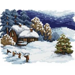 Weihnachten - B. Sikora-Malyjurek - Gobelin