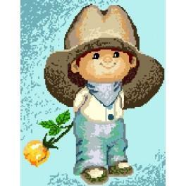 Kleiner Junge mit Hut - Gobelin
