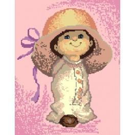 Kleines Mädchen mit Hut - Gobelin