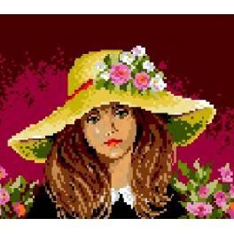 572 Kleines Mädchen mit Hut - Gobelin
