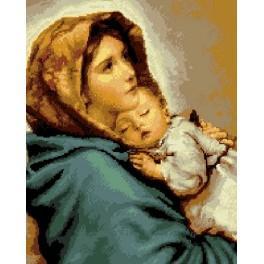 6064 Roberto Ferruzzi - Madonna von der Straße - Gobelin