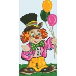 Ein Clown - Gobelin