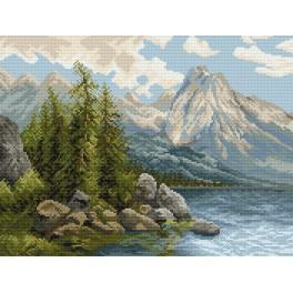 Der See im Gebirge - Gobelin