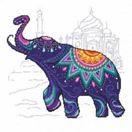 Zum Glück - Elefanten - Gobelin