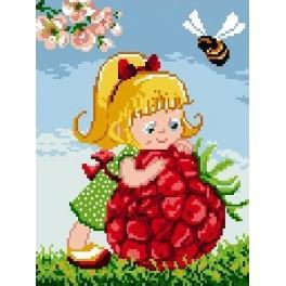 Girl with raspberry - Gobelin