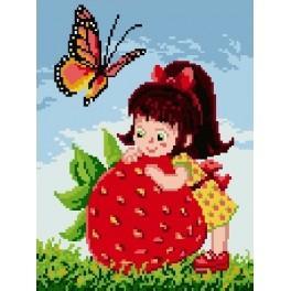 Girl with strawberry - Gobelin