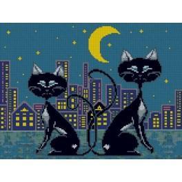 Katzenfamilie - Gobelin