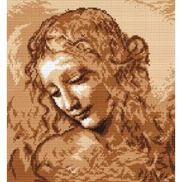 K 4255 L. da Vinci - Frauenkopf - Gobelin
