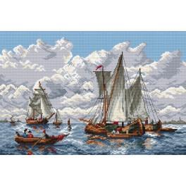 K 4277 Segelschiffe - Gobelin