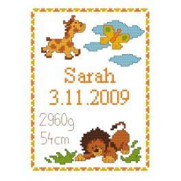 K 4429 Meine Geburt- Wildtiere - Gobelin