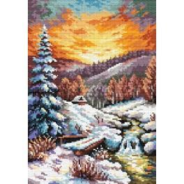 K 4469 S. Sikora - Mondschein am Winterabend - Gobelin