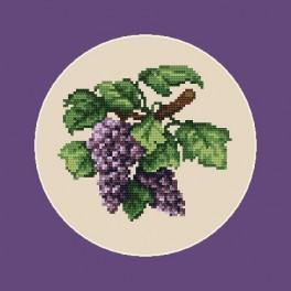 K 4678 Bunte Weintrauben - B. Sikora-Malyjurek - Gobelin