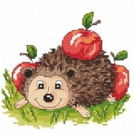 K 4884 Igelchen mit den Äpfeln - Gobelin