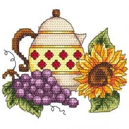 Kanne mit Weintraube - Gobelin