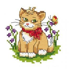 Eine Katze - Gobelin