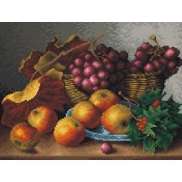 Stillleben – rote Weintrauben - Gobelin