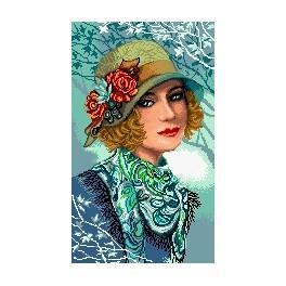 Die Frau mit Hut - Gobelin
