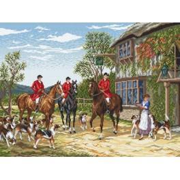 Vor der Jagd - H. Hardy - Gobelin