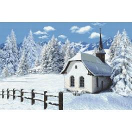 Kirchlein im Winter - Gobelin
