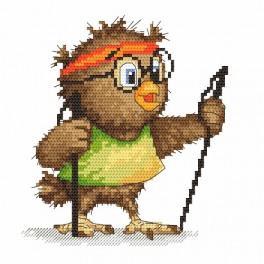 Zahlmuster online - Kleine Eule - Wanderin