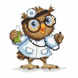 Zahlmuster online - Kleine Eule - Ärztin