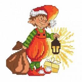 Zahlmuster online - Zwergchen Nikolaus