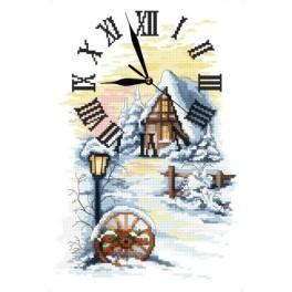 Zahlmuster online - Winter Uhr