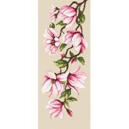 Zahlmuster online - Zarte Magnolien