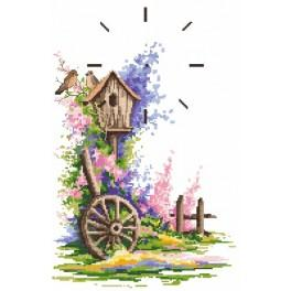 Zahlmuster online - Sommer Uhr