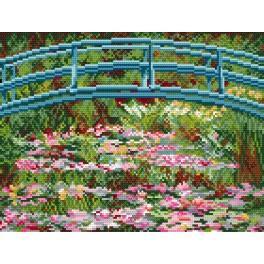 Zahlmuster online - Seerosen - C. Monet