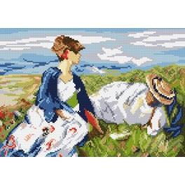 Zahlmuster online - Zwei Mädchen auf dem Hügel - F. Marc