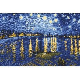 Zahlmuster online - Sternennacht über der Rhône - V. van Gogh