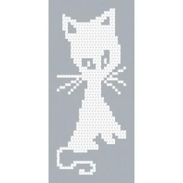 Zahlmuster online - Weiße katze