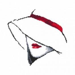 Zahlmuster online - Die Frau mit Hut I